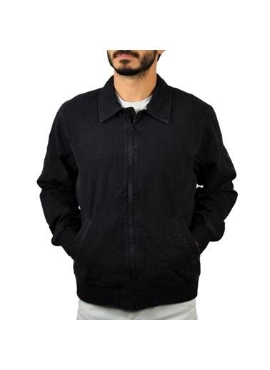 Levi's® 284180001 Düz Yakaiçi Ekoseli Fermuarlı Erkek Ceket Siyah